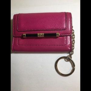 Diane von Furstenburg fuschia coin purse